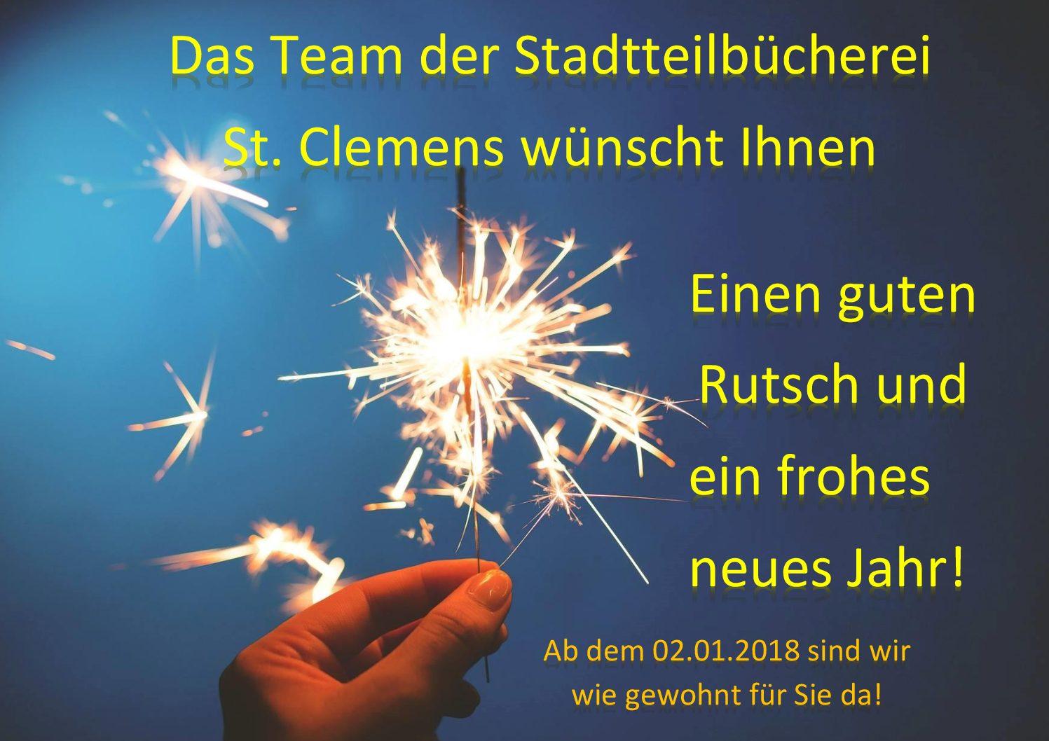 Wir wünschen einen guten Rutsch und frohes neues Jahr ...